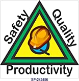 SignageShop SP-243656 Safety Quality Productivity Poster