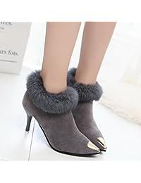 MEI&S La mujer señaló Scrub Toe Botines Stiletto zapatos