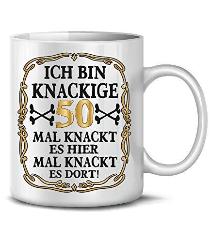 Golebros Ich Bin Knackige 50 Tasse Becher Kaffee Runder Geburtstag Geschenk Opa Oma Frauen Männer Birthday Ihn Sie Artikel Ideen Jahre Alter Freund Freundin