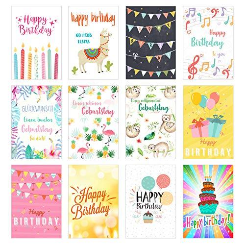 Happy Birthday Karte Für Frauen.Edition Seidel Set 12 Exklusive Premium Geburtstagskarten Mit