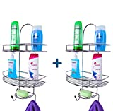 #8: Primax 5in1 Stainless Steel Multipurpose Bathroom Shelf/Kitchen Shelf/Holder / Bathroom Accessories for Home - Pack of 2