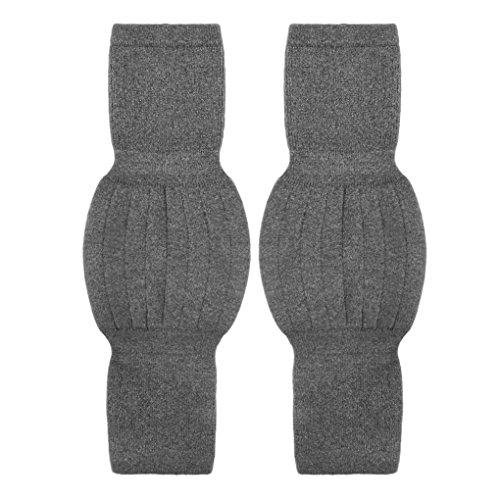 Liying Unisex Knieschoner Atmungsaktive Elastische Kniebandage elastisch Beinlinge Große Beinwärmer Kniewärmer Knieschützer wärm Winter Wollen