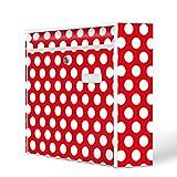 Burg-Wächter Motiv Briefkasten, Stahlblech weiß, MAIL 5877 W Postkasten 36x32x10cm mit Motiv Punkte Rot
