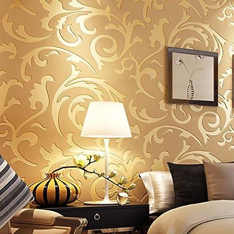 ARUHE® Últimas Minimalismo Europea Deja Papel Pintado de oro 10M Mejor Decoración para Establecer el Fondo de Pantalla de Estar / Dormitorio /