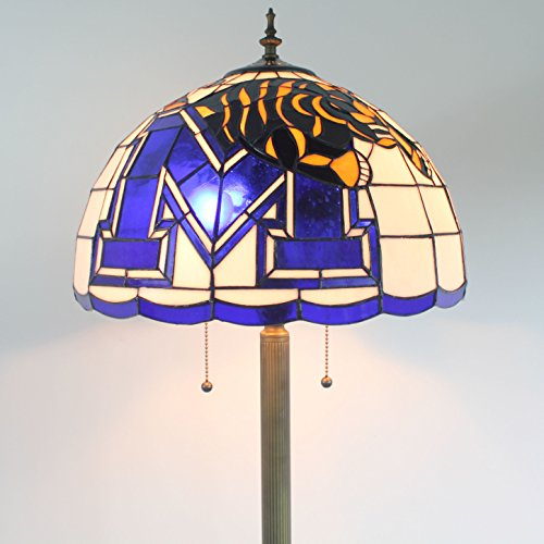 16-Zoll-NCAA Memphis Tigers Glasmalerei Stehlampe