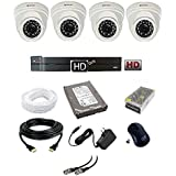 CP Plus 2.4 MP HD CCTV Camera 4Ch. HD DVR 4 Dome Camera, 1 TB Hard Disk, 4 CH Power Supply, 90 Mtr. Wire Bundle, BNC And DC Connector (2 Year Warranty)