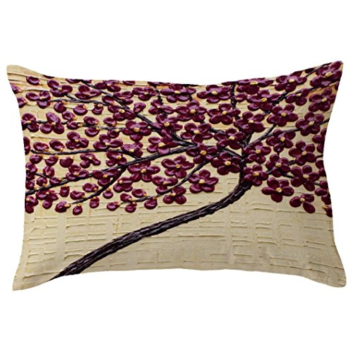 Indexp Rectangle Tree Pattern Printing Throw Cushion Cover Sofa Home Decoration Pillow case (Style N)