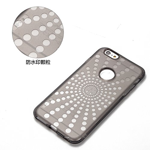 Custodia Cover iPhone 6/6S plus Silicone,Ukayfe Sollievo Design Colorato Cristallo Nero Ultra Sottile Morbido Soft TPU Gel Case Cover per iPhone 6/6S plus, Flessibile Liscio Anti Graffio Anti Scossa A Occhi neri