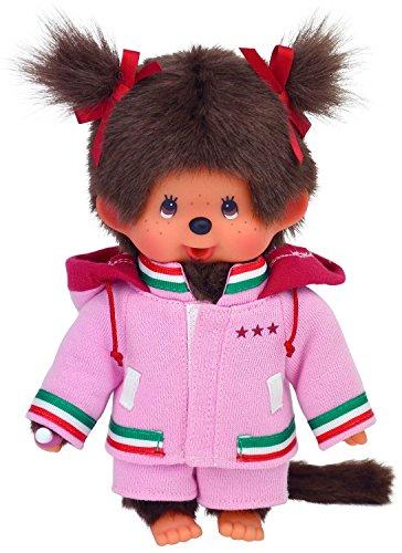 Preisvergleich Produktbild Sekiguchi 200540 - Monchhichi Mädchen 20 cm, pink Parka