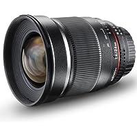 Walimex Pro 24mm 1:1,4 DSLR-Weitwinkelobjektiv für Olympus Four Thirds Objektivbajonett schwarz (manueller Fokus, für Vollformat Sensor gerechnet, Filterdurchmesser 77mm, abnehmbarer Gegenlichtblende)