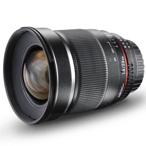 Walimex Pro 24mm 1:1,4 DSLR-Weitwinkelobjektiv für Canon EF Objektivbajonett schwarz (manueller Fokus, für Vollformat gerechnet, IF,...