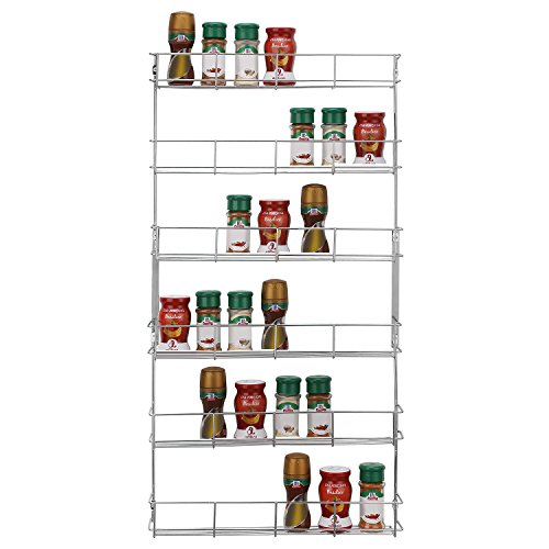 Top Home Solutions® 6 Etagen chrom Spice Rack Rückseite des Tür Spice Jar Samentüte,, metall, 6 Tier Spice Rack Paket