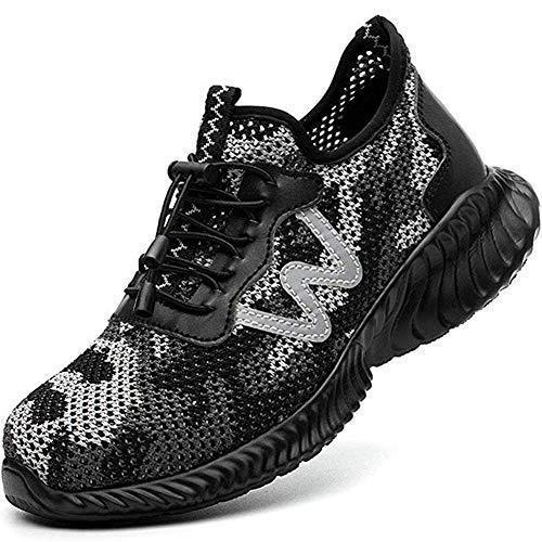 Superwl Zapatos Seguridad Hombres Comodos Ligeros