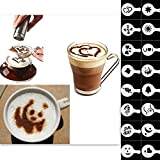 Coffee Barista Stencils Modèle Strew Pad Duster Spray