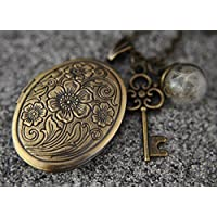 Echte Pusteblumen Medaillonkette