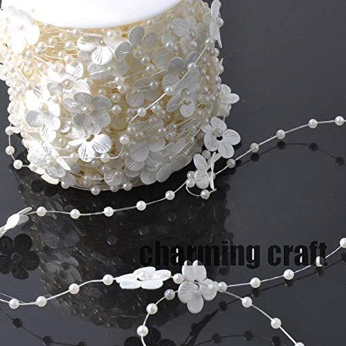 Angelschnur Silk künstliche Perlen Blume Perlen Kette Garland Blumen DIY Hochzeit Dekoration 4 Meter CP0323