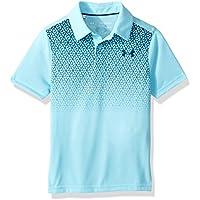 Under Armour Threadborne Camisa Polo de Golf, Bebé-Niños, Venetian Blue/Techno Teal (449), YLG