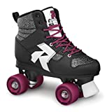 Roces DISCO7-38 Patins à roulettes Mixte Adulte, Noir Pailleté, 38