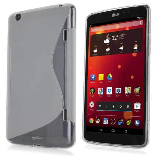 Funda LG G Pad 8.3, TPU Boxwave® [Duosuit] ultra resistente con esquinas absorbentes de golpes para LG G Pad 8.3 - satén transparente