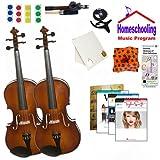 homeschool Musik–Lernen Die Viola Eltern & Kind Pack (Taylor Swift Buch Bundle)–Beinhaltet Student 35,6cm Viola & Full Größe 40,6cm Viola w/Fall, Schleife, Bücher & All Inclusive Learning Essentials
