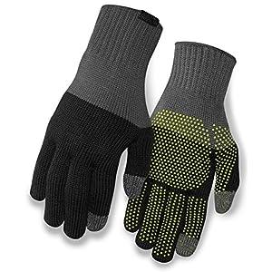 Giro Merino Knit Winter Fahrrad Handschuhe lang grau/schwarz 2019