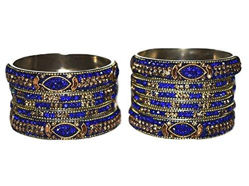 JaypurStore Blue Colour Dulhan Bangle Set, Bridal Bangle Set, Bangle Set for...