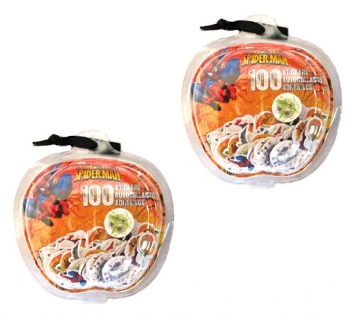 Spiderman Halloween 100 Ct Aufkleber Marvel (2 Pack) # 9906-2 Stück (Barbie Ken Halloween)