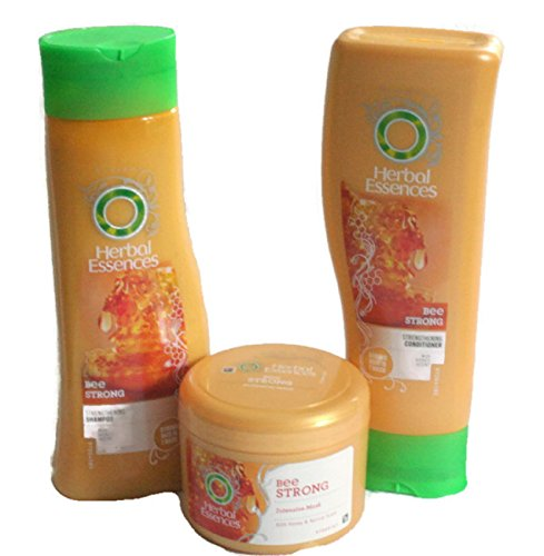 Herbal Essences Bee Strong Bundle Shampoo, Conditioner & Intensive Mask with Honey Scent.