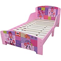 Per bambini rosa Fashion bambola in legno, motivo: struttura letto singolo