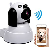 IP Camera,Dog Wireless Security Camera 720P HD Baby Pet Monitor,Pan/Tilt with Motion Detection Instant Alert,Two-Way Audio,Day/Night Vision