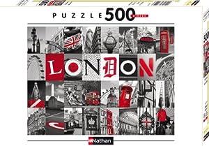 Nathan 87210 - Puzle (500 Piezas), diseño de Recuerdos de Londres