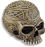 Celtic caja con forma de calavera caja cenicero ceniza bandeja Stash
