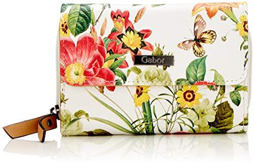 Gabor Damen Granada Bloom Geldbörse, (Weiß), 14x10x4.5 cm
