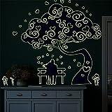 Wandtattoos Wandbilder Fluoreszierende Wandaufkleber leuchtende Wandaufkleber Papier Schlafzimmer gemütliche Nacht Paar Wandaufkleber kreative Ideen Dekoration Papier leuchtende Liebhaber Baum