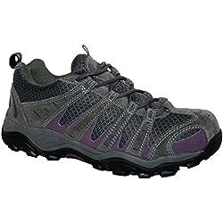 Zapatillas de Senderismo de Mujer, Impermeables, Color Gris, Talla 39