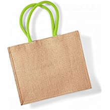 0c859bf864 ... da camino, in juta. Westford Mill 407 Shopper, Borsa Unisex, Natural  Lime Green, Taglia Unica