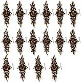 Gazechimp 16 Piezas Manija de Tiradores de Aleación de Zinc de Puerta Gabinete Estilo Vintage