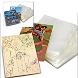 400 St Klappe VBS DIN C6 Schutzh/üllen glasklar f/ür Einsteckkarten Briefumschl/äge Fotos Postkarten Ansichtskarten Sammelkarten 120x162 mm