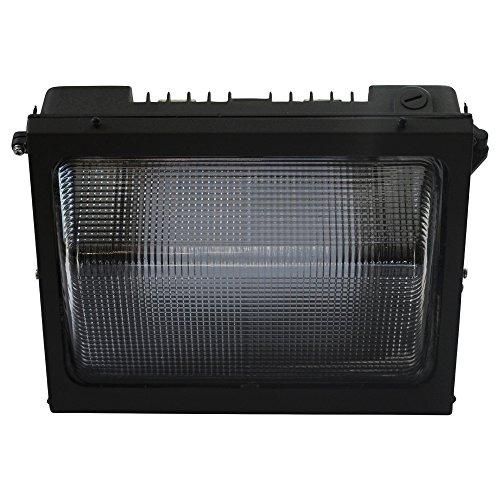 Mills LED Wall Pack 4500K Dark Bronze, Glas, UL aufgeführten, DLC Qualifizierten, 5Jahre Garantie 100W - Wp Wall