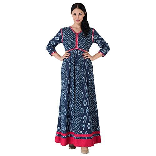 Khushal Women's Cotton Kurta (K95Blue-M)