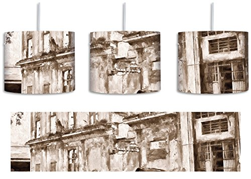 s Kunst Pinsel Effekt inkl. Lampenfassung E27, Lampe mit Motivdruck, tolle Deckenlampe, Hängelampe, Pendelleuchte - Durchmesser 30cm - Dekoration mit Licht ideal für Wohnzimmer, Kinderzimmer, Schlafzimmer (Hispanic Dekorationen)