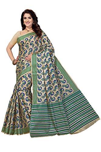 Rani Saahiba Art Silk Printed Saree ( SKR3254_Turquoise )