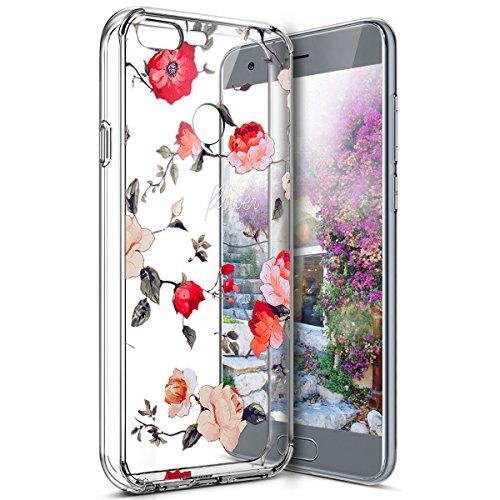 Coque Huawei Honor 9 Lite,Étui Huawei Honor 9 Lite,Surakey Huawei Honor 9 Lite Coque Transparente Silicone Gel TPU Souple Housse Etui de Protection Bumper avec Absorption de Choc et Anti-Scratch avec Dessin de Belle Fleur Papillon et Animaux Mignons Etui de Protection Cas en caoutchouc Premium Crystal Clear Flex Soft Touch Skin Ultra Mince Slim Téléphone Couverture TPU Case Coque Housse Étui pour Huawei Honor 9 Lite - Roses