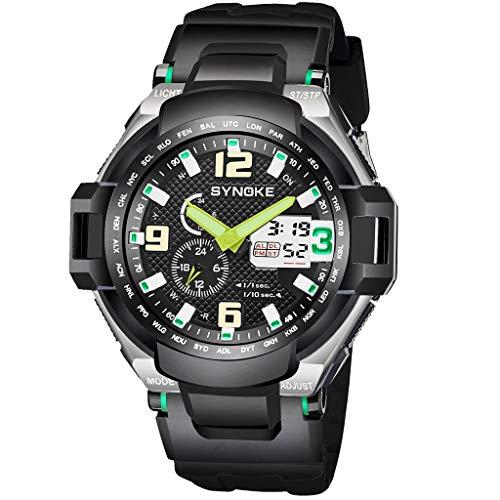 REALIKE Herrenuhr Elektronische Uhr Armbanduhren Kreative Uhr Sport im Freien Uhren Zeit zwischen den beiden Orten Mode Ultradünn Britische Artart und Weise Neue High End Geschäftsuhr Business