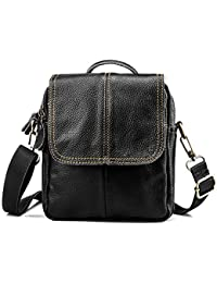 b3a050aaf BAGZY Bolso Hombre Bolso de Hombre Bandolera Cuero Pequeño Bolsa de Cuero  Bolso Movil Hombre Riñonera
