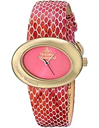 Vivienne Westwood Ellipse II Women's Quartz Watch with Pink Dial Analogue Display and Multicolour Leather Strap VV014PKPK