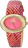 Vivienne Westwood Damen-Armbanduhr Ellipse II Analog Quarz Leder VV014PKPK