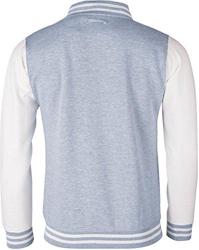 EZYshirt® Deine Wunsch Initialen College Jacke Herren/Grau/Weiß/Weiß