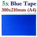 BlueTape Druckbett Klebe-Blatt 300x210mm A4 5 Blatt