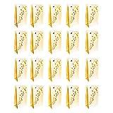 20er Set Dekorative Laternen aus Kerzentüte Lichttüten Weißem Papier mit Schmetterling -Design von Kurtzy - Herzstück Handwerk Dekorationen für Hochzeiten-Schwer Entflammbar-Mit Teelichter Verwenden